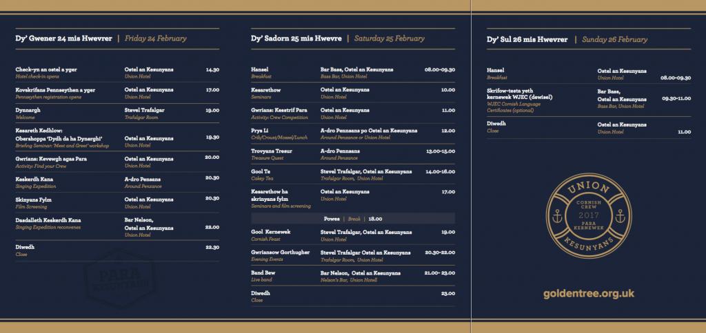 Cornish Crew Timetable